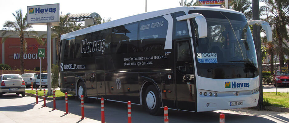 How to get from the airport to Antalya  The price of the bus