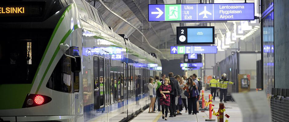 how to travel from helsinki airport to city centre