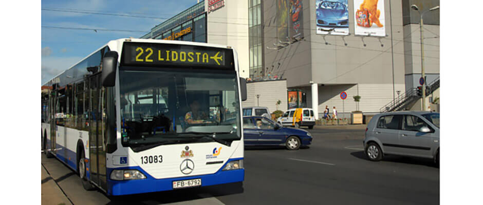 Bus from Riga Airport to city centre